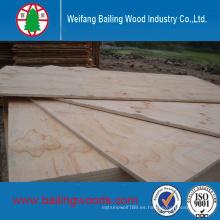 Precio inferior de madera contrachapada comercial con núcleo de álamo