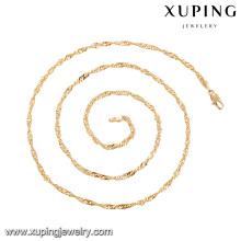 43954 7 gramas colar de ouro projetos de moda delicat simples 18 k banhado a ouro colar de jóias