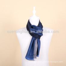 stripes pattern luxurious mercerized wool scarf for men