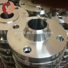 brida de titanio de cuello de soldadura de superficie pulida de calidad superior