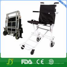 Silla de ruedas plegable de transporte ligero de aluminio