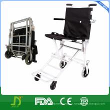 Cadeira de rodas dobrável de transporte leve de alumínio