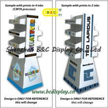 Anzeige der Karton-Mappe, Pappboden-Anzeigen Pappausstellungsstand mit Regal (B & C-A051)