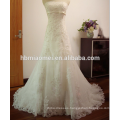 Factory supply Sweety laced heavy beaded small tail wedding dress lace gown