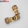 China Supplier Brass Copper 90 Degree Elbow Pex Fitting For Plumbing