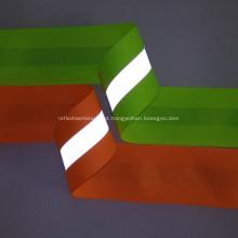 Ferro Oxford impermeável de cor verde em fita reflexiva