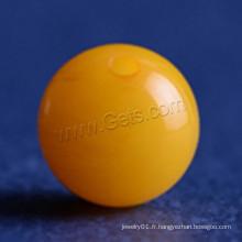 Perles de pierres gemmes de la nature baltique jaune Perles de pierres ambrées