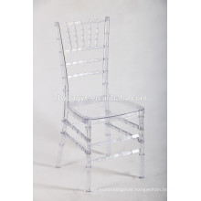 2015 hot sale wedding polycarbonate resin chiavari tiffany chair
