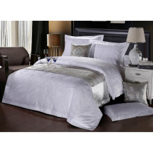 100% Algodão ou T / C 50/50 Jacquard Hotel / Home Bedding Set (WS-2016054)