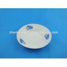 8inch керамическая дешевая тарелка супа ехпортированная к рынку африки