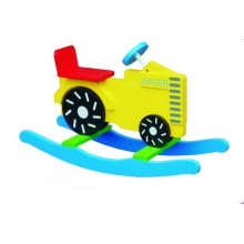 Cute Wooden Baby Chair Tractor Rocker for Kids and Children