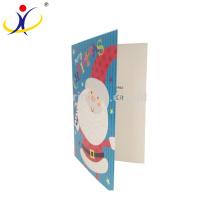 Meilleurs voeux de Noël cartes papier imprimé coloré