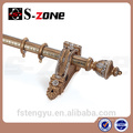 wooden home decor curtain rod for Antique series