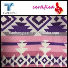 colorido diseño geométrico 100 tela cruzada del algodón tela impresa para el vestido de la armadura
