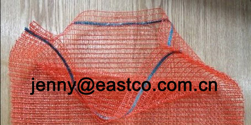 Raschel Mesh Net Bag Sack Top with Drawstring