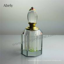 Bouteille de verre cosmétique 12ml pour décoration papillon