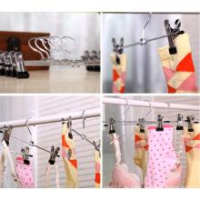 Kleiderhose Rock Socken Metall Bar mit Anti Slip Clips Kleiderbügel
