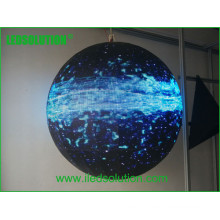 Exposição de vídeo da bola da exposição da esfera do diodo emissor de luz / diodo emissor de luz / exposição de diodo emissor de luz de 360 graus
