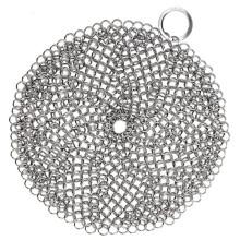 сетка из нержавеющей стали кольчуга /чугун очиститель XL в 7х7 стальная кольчуга скруббер/стальная кольчуга скруббер