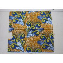 Cera africana real 100% algodón impresa tela de cera africana 6 yardas