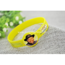 Custom Figured CMYK Printed Adult Silicone Wristbands