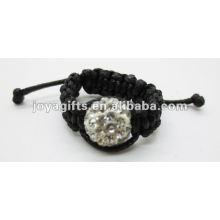 Boule de cristal de 10 mm shamballa anneaux belle