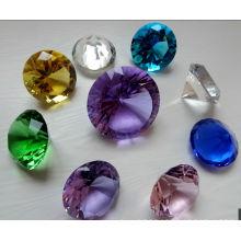 Diamant en verre coloré de cristal pour la décoration (Ks26011)
