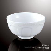 Bol en céramique spéciale en bonne santé, bol en porcelaine pour hôtel et restaurant
