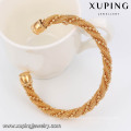 51459 Xuping Copper Sex Bangle Fashion Adjustable Twist Cuff Bangles