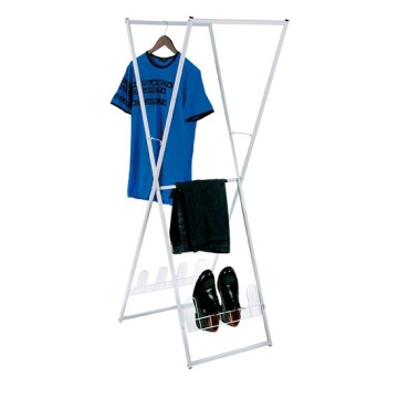 Storage Folding Clothes Rack With Pan And Shoe Rack