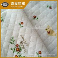 tela da camada do ar do knit do jacquard do algodão do poliéster para a roupa