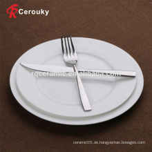 Kundenspezifische weiße Porzellankeramik-Obstteller
