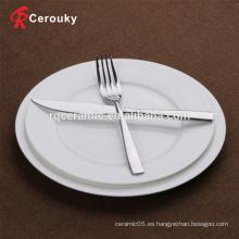 Plato de fruta de cerámica de porcelana blanca personalizada