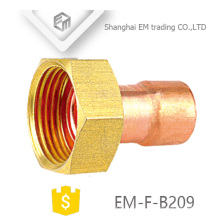 EM-F-B209 Hexagom cabeça fêmea cobre mamilo encaixe de tubulação