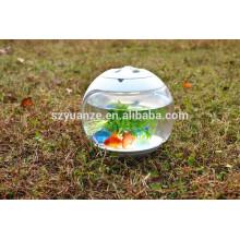 Современный дизайн Акриловый малый резервуар для рыбы, висящий аквариум, круглый аквариум