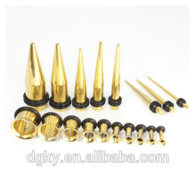 Gold Plated Ear Plug Stretcher Surgical Steel Ear Expander Gold Jewelry