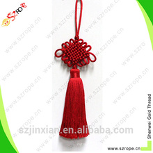 Custom red tassel with Chinese knot