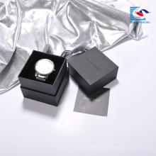 Caixa de papel de embalagem de relógio profissional personalizado de alta qualidade com bandeja de inserção