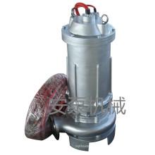 Pompe d'eaux usées submersible centrifuge en acier inoxydable