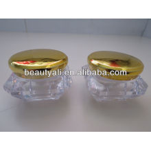 Diamond Cosmetic Acrylic Jar With Electroplating Cap