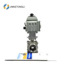 JKTLEB102 válvula de asiento y bola de acero fundido motorizada