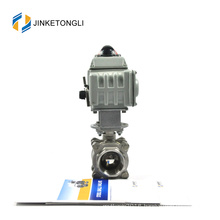 JKTLEB102 motorized cast steel ball and seat valve