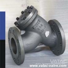 Colador de acero fundido Wcb / Lcb / Ss304 / Ss316 Y RF