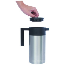Stainless Steel Double Wall Mirror Polish Vacuum Coffee Pot