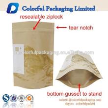 Cremallera de la bolsa de papel artesanal, bolsa de papel artesanal, vidrio posterior iphone 4