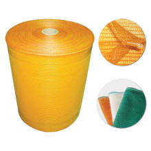 Vegetables and fruits mesh bags on rolls