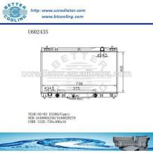 Radiador Para TOYOTA ES300 / CAMRY 02-03 Aluminio 164000A230 / 1640020270 Fabricante y Venta Directa
