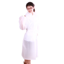 ladies long white EVA Raincoat