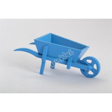 Dollhouse wooden Wheelbarrow in various colors
