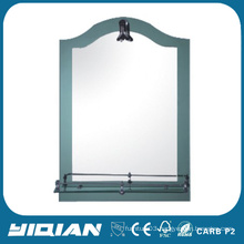 Salon Hotel Mirror with Tempered Glass Shelf Washroom Mirror High Quality Shower Mirror